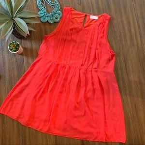 Love Stitch medium sleeveless coral tunic